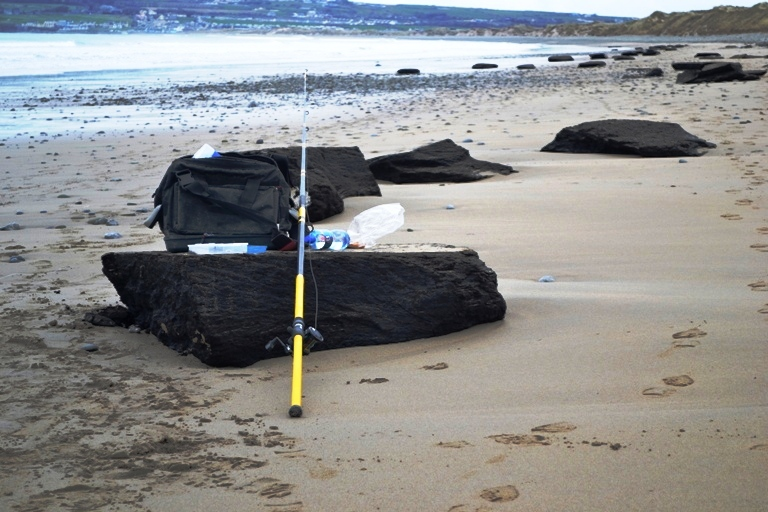 Peat has been washed ashore on many beaches