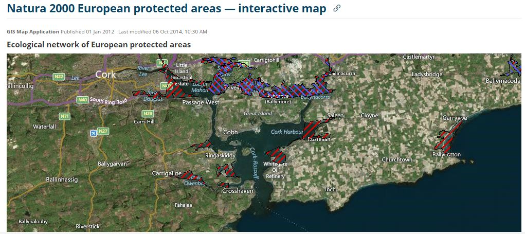 Cork Harbour - Areas of conservation and protection